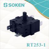 기구 (RT253-1)를 위한 6개의 위치 로터리 스위치