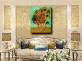 Peinture toujours fabriquée à la main d'art de fleur de couteau de vie sur la toile