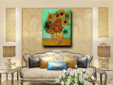 De Whloesale toujours peinture fabriquée à la main d'art de fleur de couteau de vie sur la toile, peinture à l'huile