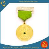 Médaille d'or de estampage faite sur commande en gros de récompense d'honneur de souvenir