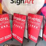 """Les signes de yard d'affaires pour les immeubles et les campagnes d'élection sautent vers le haut annonçant le présentoir promotionnel de la vue Sidewalk24 """" X36 """" de Portablea de matériel"""