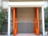 Guía Rail Hydraulic Vertical Freight Elevator con The Door