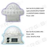 Luz quente de efeito de bola de cristal LED de venda quente para palco e barra