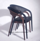 Outdoor Plastic Rattan Wicker Dining Coffee Chair (LL-1901)