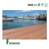 Decking de madeira impermeável do passeio à beira mar da grão WPC