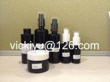 5ml~200ml黒いガラスビン、すみれ色の黒いガラスローションのびん、ガラス血清のびん、紫色の黒いガラス容器