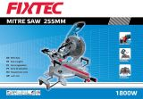 Fixtec 1800W 255mm Compound Miter Saws voor Wood