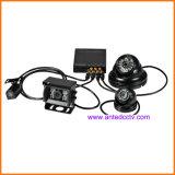 H. 264 HD 1080P 4 Kanaal Mobiele DVR met GPS die WiFi 3G 4G volgt