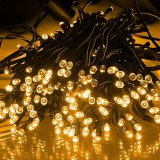 Garten-Weihnachtsfest-Zeichenkette-feenhafte Lampe der Sonnenenergie-50 LED