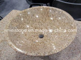 All Polished Shanxi Black Granite Round Counter Top Basin