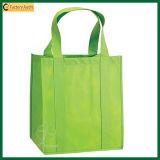 卸し売り緑によって印刷される非編まれたトートバック(TP-SP460)