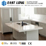 Pedra branca super de quartzo para Tabletops da barra com superfície Polished/brilho