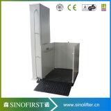 elevadores del hogar del vector de elevación de sillón de ruedas del uso del hogar 250kg del 1m al aire libre