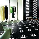 Azulejos de suelo de cerámica Polished negros estupendos de Porcelaiin