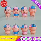 Mcdull cerdo serie plástico figura juguetes (CB-PM031-Y)