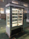 Étalage de marbre à angle droit de porte en verre pour le système de gâteau (S780V-M)