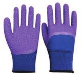 Перчатки пены латекса мягкие с перчатками работы перчаток безопасности Crinkle