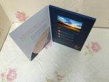 La tarjeta enviable por correo más conveniente y rápidamente aduanas del LCD del vídeo de felicitación, tarjeta de la invitación