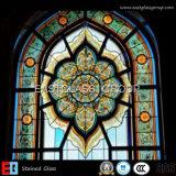 Chiesa macchiata vetro Windows di colore di vetro