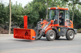 CE Approved 1.2 Ton Mini Wheel Loader di Everun Brand con Snow Blower