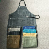 Custom Top Qaulity Blue Denim Apron pour le commerce de gros de café