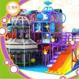 Kids Indoor Playground Equipment / Fiberglass Slide and Rainbow Net