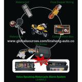 Motorrad-Warnungen mit Motor-Fernstart und Anschlag