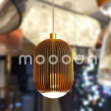Natal Decorativo Cobre Pendurado Rugby Streak Alumínio LED Pendant Light