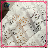 Ткань шнурка сетки жаккарда хлопка для одежд модных женщин