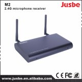 M2 2.5g 직업적인 오디오 시스템은 가르치기를 위한 마이크 수신기를 이중 통과한다