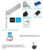 LED al aire libre todo en una luz de calle solar con el regulador de cámara elegante de Bluetooth APP MPPT