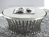 居間のステンレス鋼の大理石のコーヒーテーブル(CT006#)