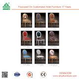 Cadeira de jantar de madeira requintada e requintada