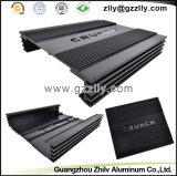 Dissipadores de calor pretos do perfil do alumínio de carcaça do carro da cor