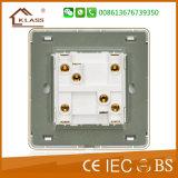 Britischer Standard-hochwertiger zwei Gruppe-Wand-Schalter 16A