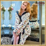 Peignoir de coton de femmes de client OEM de vente en gros d'usine d'essuie-main de la Chine
