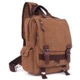 粋なキャンバスの学校のバックパックの屋外の冒険袋Sy7859