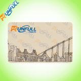 Carte lustrée de PVC d'IDENTIFICATION RF de blanc d'or de qualité/carte adhésion imprimable de jet d'encre
