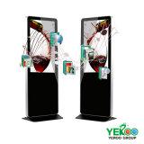 quiosco elegante del tacto del soporte del suelo del quiosco del quiosco 65inch del metro de la señalización al aire libre TV WiFi del LCD Digital
