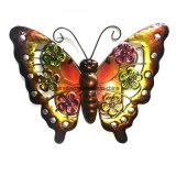 Nuovo giardino Decoration&#160 di arte della parete di vetro della farfalla W. del metallo;