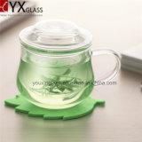 чашка термостойкого стекла боросиликата высокого качества 300ml установила/одностеночная стеклянная установленная кружка чашки чая/комплект чашки цветка гремя стеклянный