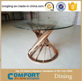 Meubles d'or de table basse en métal de Rose de modèle moderne
