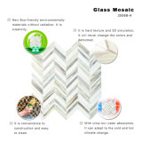 mozaïek van het Glas van de Tegel Backsplash van 3 mm Thikness het Grijze en Witte