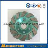 Зеленое колесо чашки диаманта для меля камня/мрамора