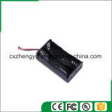 2AA Batteriehalterung mit den roten/schwarzen Leitungen