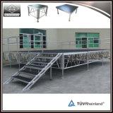 Estágio portátil de alumínio de venda quente do conjunto com escada da etapa