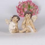 Résine personnalisée à la taille différente Cute Angel Statues with Guitar