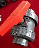 Vávula de bola verdadera de la unión del PVC del plástico Pn16