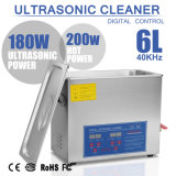 pulitore ultrasonico di Digitahi dell'acciaio inossidabile di 6L 180W con il temporizzatore ed il riscaldatore