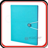Logotipo em relevo Elastic Closure PU A5 Ring Binder Folder
